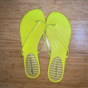 Cute Yellow Summer Flip Flops!!